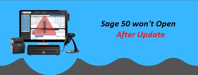 Troubleshoot Sage 50 won't Open after Update | Itztechy